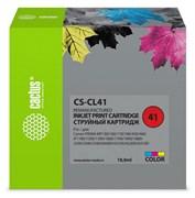 Струйный картридж Cactus CS-CL41 (CL-41) цветной для Canon Pixma MP150, MP160, MP170, MP180, MP210, MP220, MP450, MP460, MP470, iP1200, iP1300, iP1600, iP1700, iP1800, iP1900 (18 мл)