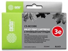 Струйный картридж Cactus CS-BCI3BK (BCI-3Bk) черный для Canon BJ i550, i560, i6500, i850, S400, S450, S500, S520,S530, S600, S630, S750, BJC 3000, 6000, 6100, 6200, Pixma iP3000, iP4000, iP5000, MP760, SmartBase MP700, MPC400 (23,6 мл)