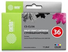 Струйный картридж Cactus CS-CLI36 (CLI-36) цветной для Canon Pixma iP100, iP110, Mini 260, Mini 320 (11,8 мл)