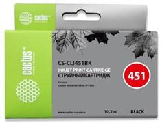 Струйный картридж Cactus CS-CLI451BK (CLI-451Bk) черный для Canon Pixma iP6840, iP7240, iP8740, iX6840, MG5440, MG5540, MG5640, MG6340, MG6440, MG6640, MG7140, MG7540, MX724, MX924 (10,2 мл)