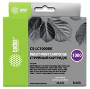 Струйный картридж Cactus CS-LC1000BK (LC1000BK) черный для принтеров Brother DCP-130C, 330C, 350C, 357C, 540CN, 560CN, 750CW, 770CW, MFC-240C, 440CN, 465CN, 660CN, 680CN, 845CW, 885CW, 3360C, 5460CN (22,6 мл)