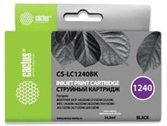 Струйный картридж Cactus CS-LC1240BK (LC1240BK) черный для принтеров Brother DCP-J525w, J725dw, J925dw, MFC-J430w, J625dw, J825dw, J5910dw, J6510dw, J6710dw, J6910dw (24 мл)