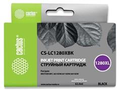 Струйный картридж Cactus CS-LC1280XBK (LC1280XL-BK) черный увеличенной емкости для принтеров Brother MFC J5910dw, MFC J6510, MFC J6510dw, MFC J6710, MFC J6710d, MFC J6710dw, MFC J6910, MFC J6910dw (62 мл)