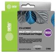 Струйный картридж Cactus CS-LC900C (LC900C) голубой для принтеров Brother DCP-110C, 115C, 117C, 120C, 310CN, 315CN, 340CW, MFC-210C, 215C, 3240C, 3340CN, 410CN, 425CN, 5440CN, 5840CN, 620CN, 640CW (16,6 мл)