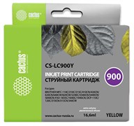 Струйный картридж Cactus CS-LC900Y (LC900Y) желтый для принтеров Brother DCP-110C, 115C, 117C, 120C, 310CN, 315CN, 340CW, MFC-210C, 215C, 3240C, 3340CN, 410CN, 425CN, 5440CN, 5840CN, 620CN, 640CW (16,6 мл)