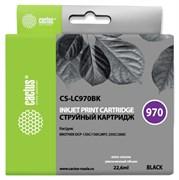 Струйный картридж Cactus CS-LC970BK (LC970BK) черный для принтеров Brother DCP 135, DCP 135c, DCP 150, DCP 150c, DCP 153c, DCP 157c, DCP 750cn, MFC 235, MFC 235c, MFC 260, MFC 260c (22,6 мл)