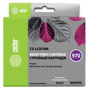 Струйный картридж Cactus CS-LC970M (LC970M) пурпурный для принтеров Brother DCP 135, DCP 135C, DCP 150, DCP 150C, DCP 153C, DCP 157C, DCP 750CN, MFC 235, MFC 235C, MFC 260, MFC 260C (20 мл)