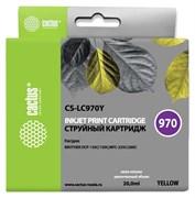 Струйный картридж Cactus CS-LC970Y (LC970Y) желтый для принтеров Brother DCP 135, DCP 135c, DCP 150, DCP 150c, DCP 153c, DCP 157c, DCP 750cn, MFC 235, MFC 235c, MFC 260, MFC 260c (20 мл)