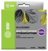 Струйный картридж Cactus CS-LC525XLY (LC525XL-Y) желтый для принтеров увеличенной емкости для принтеров Brother DCP J100, MFC J200 (14,4 мл)