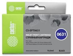 Струйный картридж Cactus CS-EPT0631 (T0631) черный для принтеров Epson Stylus C67, C67PE, C87, CX3700, CX4100, CX4700, CX5700, CX5700F (10 мл)
