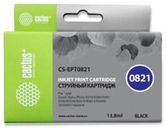 Струйный картридж Cactus CS-EPT0821 (T0821) черный для Epson Stylus Photo R270, R290, R295, R390, RX590, RX610, RX615, RX690, TX650, TX659, TX700w, TX710w, TX800fw, T50, T59 (13,8 мл)