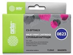 Струйный картридж Cactus CS-EPT0823 (T0823) пурпурный для Epson Stylus Photo R270, R290, R295, R390, RX590, RX610, RX615, RX690, TX650, TX659, TX700w, TX710w, TX800fw, T50, T59 (13,8 мл)