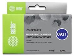 Струйный картридж Cactus CS-EPT0921 (T0921) черный для принтеров Epson Stylus C91, C240, CX4300, T26, T27, TX106, TX109, TX117, TX119 (8 мл)