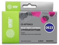 Струйный картридж Cactus CS-EPT0923 (T0923) пурпурный для принтеров Epson Stylus C91, C240, CX4300, T26, T27, TX106, TX109, TX117, TX119 (6,6 мл)