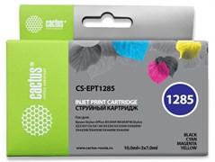 Струйный картридж Cactus CS-EPT1285 (T1285) набор для принтеров Epson Stylus S22, S125, SX130, SX230, SX235w, SX420w, SX425w, SX430w, SX435w, SX440w, SX445w, Office BX305f (10 мл + 3 x 7 мл)