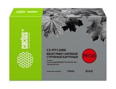 Струйный картридж Cactus CS-PFI120BK черный для Canon imagePrograf TM-200, TM-205, TM-300, TM-305 (130 мл)