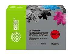 Струйный картридж Cactus CS-PFI120M пурпурный для Canon imagePrograf TM-200, TM-205, TM-300, TM-305 (130 мл)
