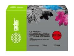 Струйный картридж Cactus CS-PFI120Y желтый для Canon imagePrograf TM-200, TM-205, TM-300, TM-305 (130 мл)