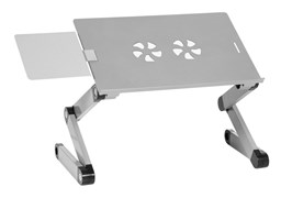 Стол для ноутбука Cactus CS-LS-T8 серебристый