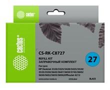 Заправочный набор Cactus CS-RK-C8727 черный для HP DeskJet 3320, 3325, 3420, 3425, 3520, 3535; OfficeJet 4212 (2*30ml)