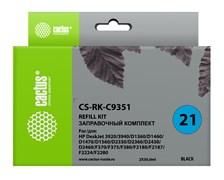 Заправочный набор Cactus CS-RK-C9351 черный для HP DeskJet 3920, 3940, D1360, D1460, D1470, D1560, D2330 (2*30ml)