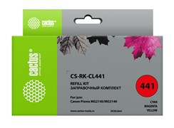 Заправочный набор Cactus CS-RK-CL441 многоцветный для Canon MG2140, MG3140 (3*30ml)