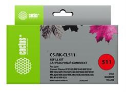 Заправка для ПЗК Cactus CS-RK-CL511 цветной Canon MP240, MP250, MP260, MP270 (3*30ml)