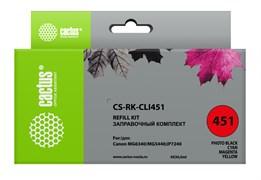Заправочный набор Cactus CS-RK-CLI451 многоцветный для Canon MG 6340, 5440, IP7240 (4*30ml)