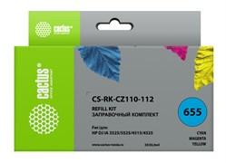 Заправочный набор Cactus CS-RK-CZ110-112 многоцветный для HP DeskJet IA 3525, 5525, 4515, 4525 (3*30 мл.)