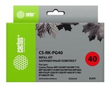 Заправочный набор Cactus CS-RK-PG40 черный для Canon MP150, MP160, MP170, MP180, MP210 (2*30ml)
