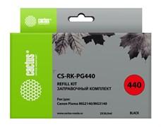 Заправочный набор Cactus CS-RK-PG440 черный для Canon MG2140, MG3140 (2*30ml)