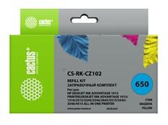 Заправочный набор Cactus CS-RK-CZ102 многоцветный для HP DeskJet 2515,DeskJet 3515; Ink Advantage 1015, 4515 eAiO (3*30ml)