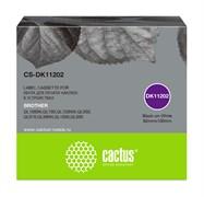 Картридж ленточный Cactus CS-DK11202 черный для Brother P-touch QL-500, QL-550, QL-700, QL-800