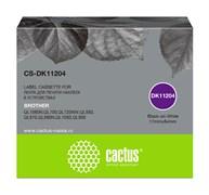 Картридж ленточный Cactus CS-DK11204 черный для Brother P-touch QL-500, QL-550, QL-700, QL-800