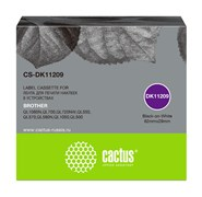 Картридж ленточный Cactus CS-DK11209 черный для Brother P-touch QL-500, QL-550, QL-700, QL-800