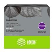 Картридж ленточный Cactus CS-DK22205 черный для Brother P-touch QL-500, QL-550, QL-700, QL-800