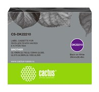 Картридж ленточный Cactus CS-DK22210 черный для Brother P-touch QL-500, QL-550, QL-700, QL-800