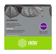 Картридж ленточный Cactus CS-DK22212 черный для Brother P-touch QL-500, QL-550, QL-700, QL-800
