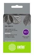 Картридж ленточный Cactus CS-TZE111 черный для Brother 1010, 1280, 1280VP, 2700VP