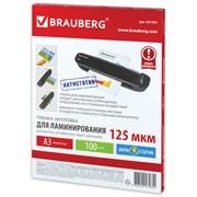 Пленки-заготовки для ламинирования Brauberg А3, антистатик, 125 мкм (100 шт.)