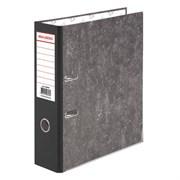 Папка-регистратор Brauberg с мраморным покрытием, 75 мм, черный корешок