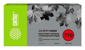 Cтруйный картридж Cactus CS-PFI710MBK (PFI-710MBK) черный матовый для Canon imagePROGRAF TX-2000, TX-3000, TX-4000 (700 мл)