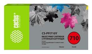 Струйный картридж Cactus CS-PFI710Y (PFI-710Y) желтый для Canon imagePROGRAF TX-2000, TX-3000, TX-4000 (700 мл)