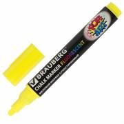 """Маркер меловой Brauberg """"POP-ART"""" желтый, 5 мм, сухостираемый, для гладких поверхностей"""