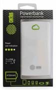 Мобильный аккумулятор Cactus CS-PBA40-4700WB 4700mAh 1A+2.1A белый/зеленый
