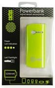 Мобильный аккумулятор Cactus CS-PBX2-5200GW 5200mAh 1A зеленый/белый