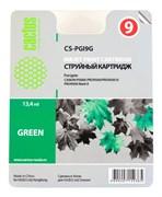Струйный картридж Cactus CS-PGI9G (PGI-9G) зеленый для принтеров Canon Pixma iX7000, MX7600, PRO 9500, PRO9500 Mark II (650 стр.)