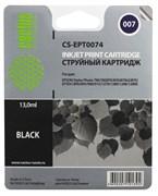 Струйный картридж Cactus CS-EPT0074 (C13T00740210) черный для принтеров Epson Stylus Photo 790, 870, 875DC, 890, 895, 895EX, 900, 915, 1270, 1290 (540 стр.)