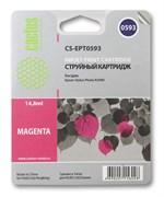 Струйный картридж Cactus CS-EPT0593 (C13T05934010) пурпурный для принтеров Epson Stylus Photo R2400 (440 стр.)