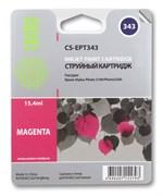 Струйный картридж Cactus CS-EPT343 (C13T03434010) пурпурный для принтеров Epson Stylus Photo 2100, 2200 (15.4 мл)